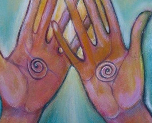 Spiritual Hands Drawing